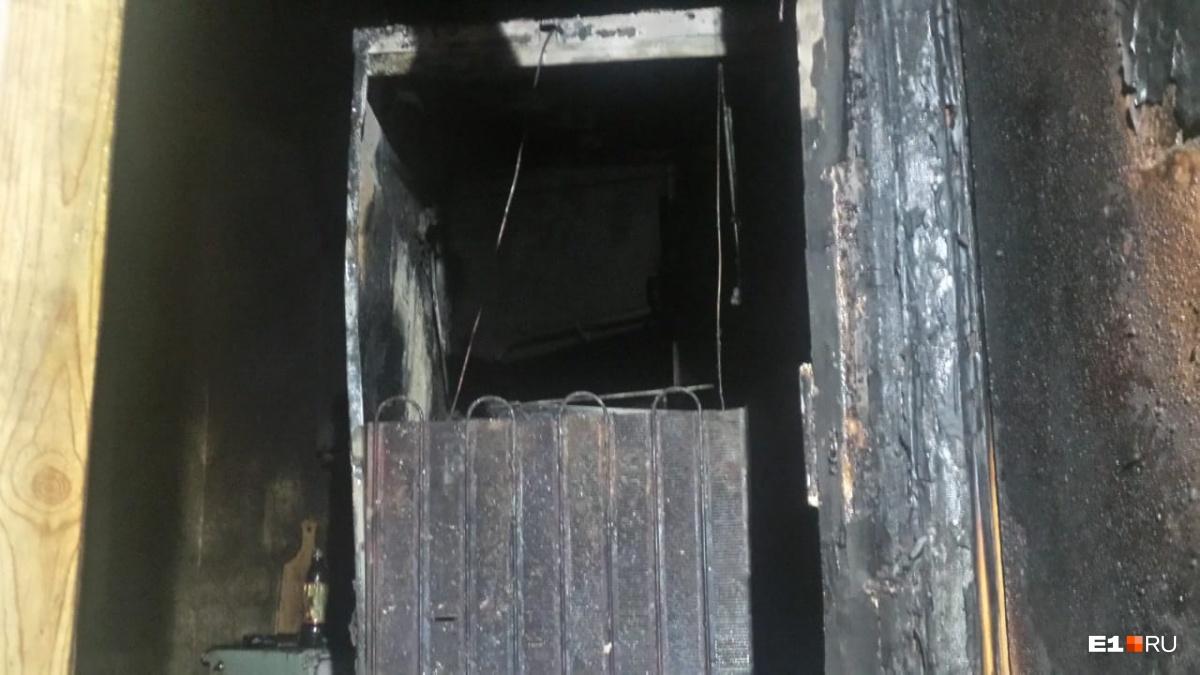 В квартире загорелся холодильник