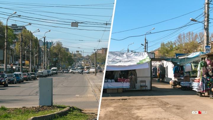 В Самаре снесут часть рынка на пересечении Физкультурной — XXII Партсъезда