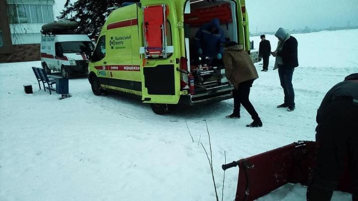 В Самарской области на льду Волги нашли избитую женщину