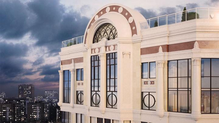 Вместо хай-тека – «итальянская» классика: как строят особняк с парком на крыше и видом на Исеть