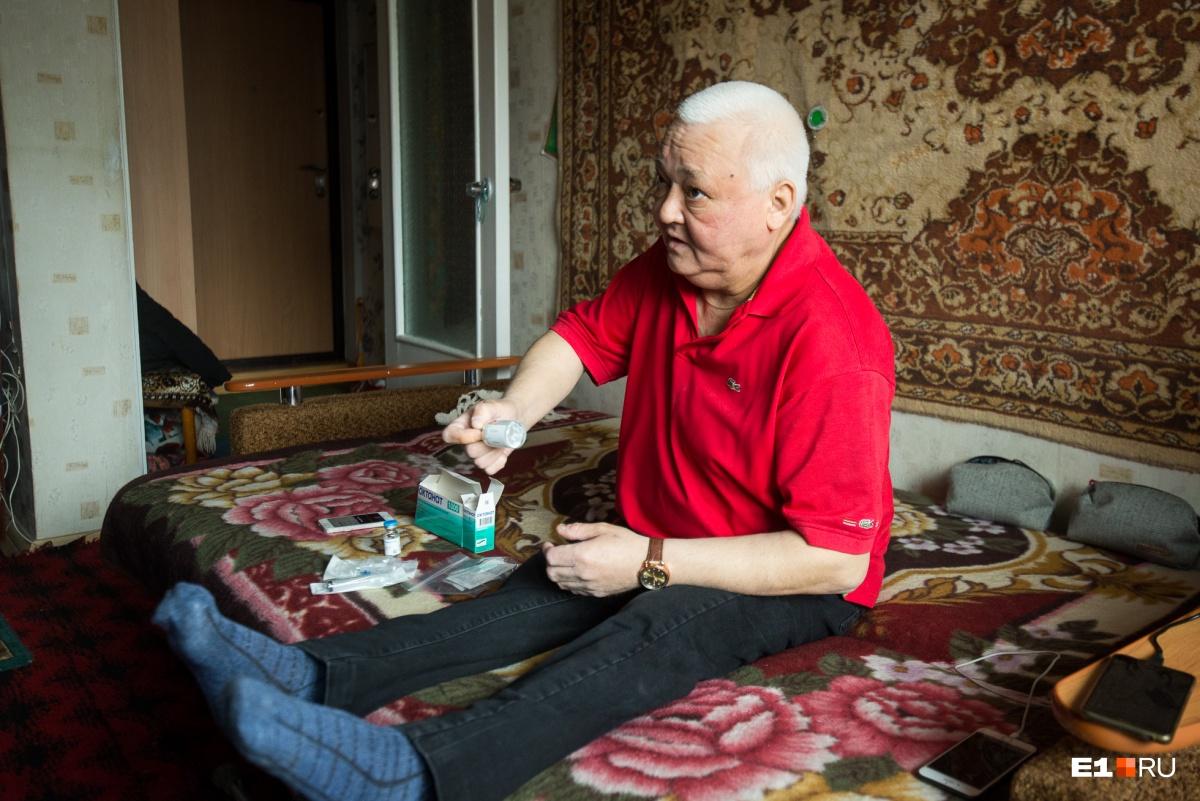 После операции на ногах Рифат Равильевич стал ниже на 10 сантиметров
