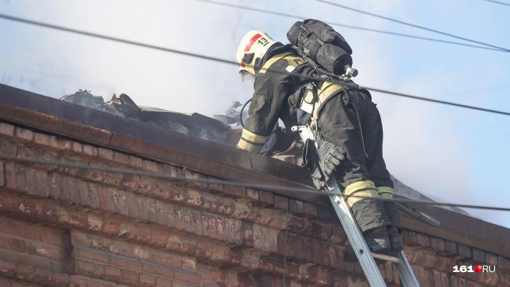 При пожаре в переулке Казахстанском погиб человек
