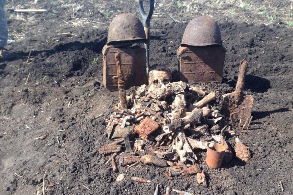 Близ хутора Копани таганрогские поисковики нашли останки 72 советских бойцов