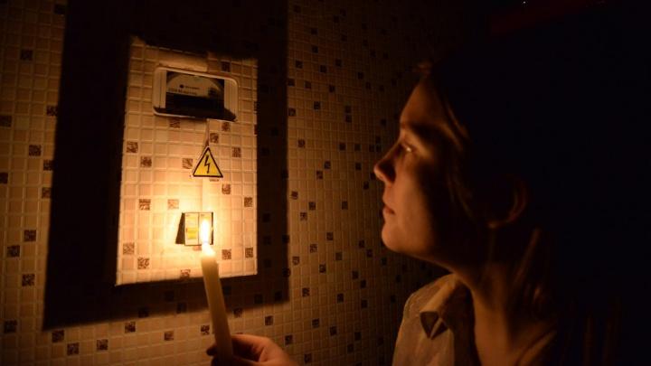 Жители Юго-Запада остались без света из-за повреждения кабеля