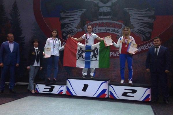 Две новосибирские спортсменки заняли призовые места на пьедестале