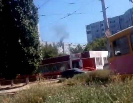 В Советском районе Волгограда горит многоэтажка