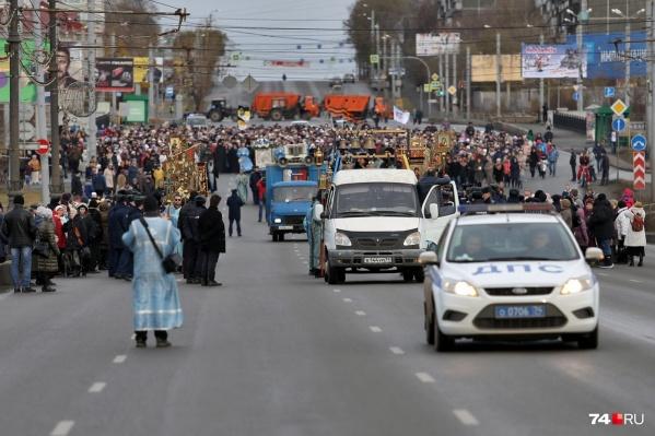 Крестный ход — традиция Дня народного единства в Челябинске
