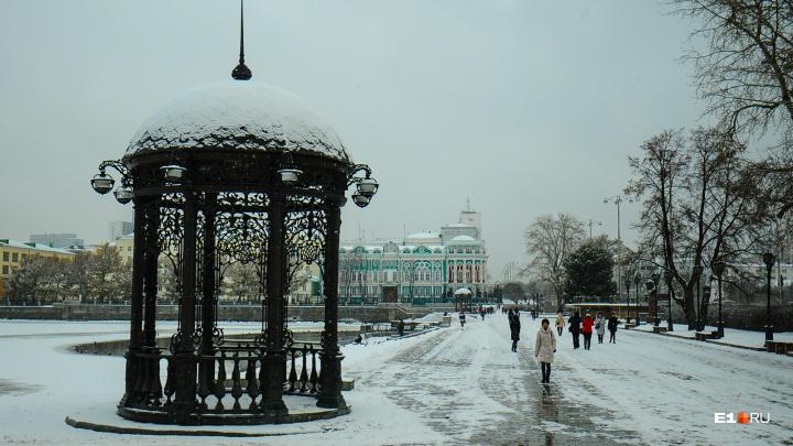 Мягкий переход к зиме: на неделе в Екатеринбурге выпадет еще немного снега
