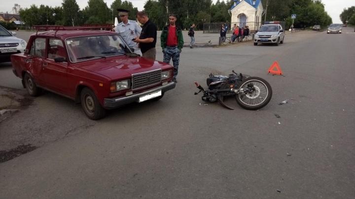 В Далматово в ДТП пострадал несовершеннолетний мотоциклист