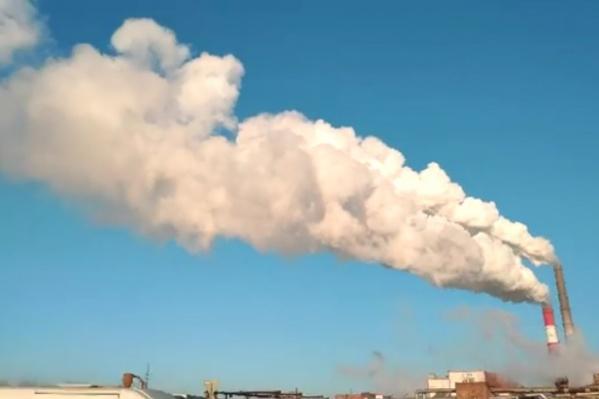 Дым от ТЭЦ в Красноярске