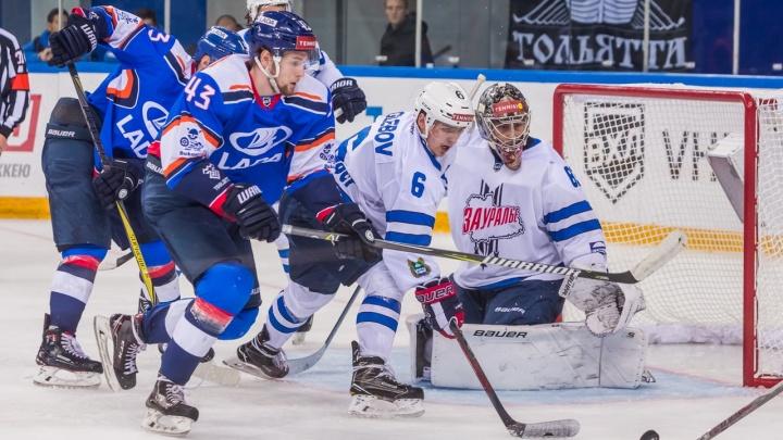 Боролись до конца, но проиграли: хоккеисты «Зауралья» уступили тольяттинской «Ладе» со счетом 5:2