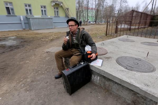 Предприниматель во время вояжа в Северодвинск брался за любые подработки и даже спал на улице