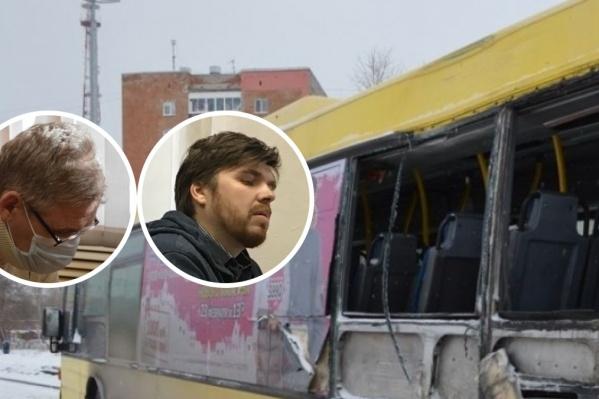 Мальчик ехал в этом автобусе