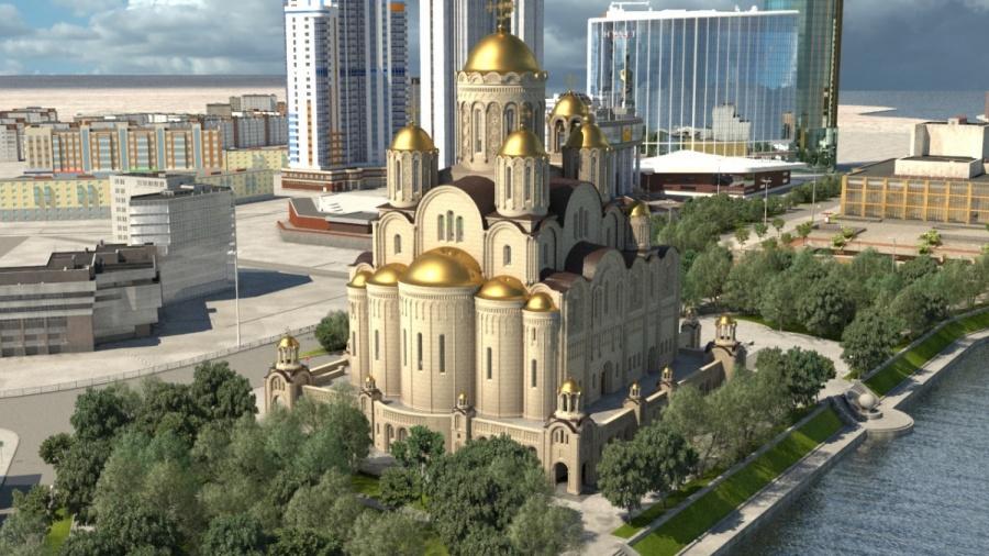 Такой храм хотят построить перед Театром драмы