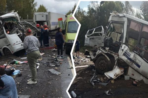 В страшной аварии под Ярославлем погибли 7 человек