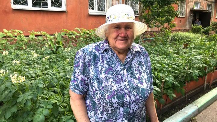 На Астраханской пенсионерка выращивает в палисаднике у дома картофель и помидоры