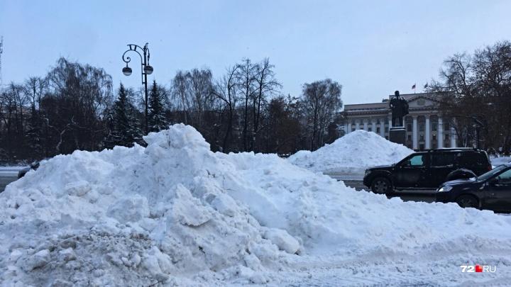 Тюмень в сугробах: заметённый снегом город пытаются расчистить, но получается не очень