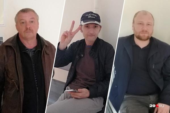 Валерий Дзюба из Урдомы, Вячеслав Григорьянц из Котласа, Андрей Старковский из Яренска