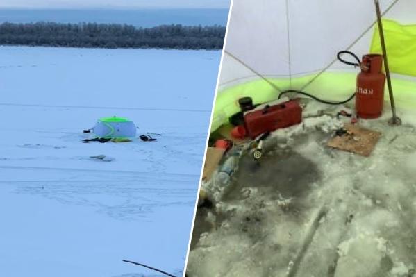 Мужчины рыбачили на реке Иртыш и решили обогреть палатку газом