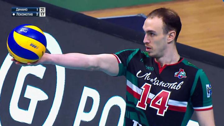Волейбол: новосибирский«Локомотив» обыграл московское«Динамо»