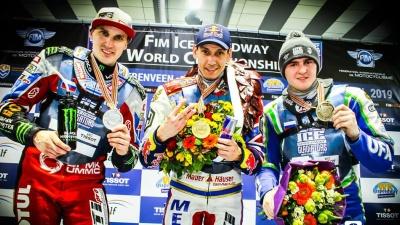 Зауралец Дмитрий Колтаков стал серебряным призером личного чемпионата мира по мотогонкам на льду