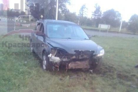 В аварии пострадала только машина