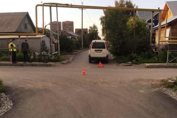 Место аварии на ул. Гэсстроевской