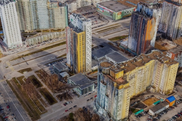 Так на трехмерной модели выглядит район Нового центра