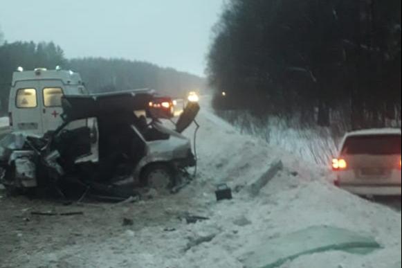 После аварии один из водителей попал в травматологию