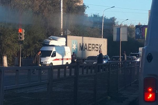 По словам очевидцев, утренняя авария обошлась без пострадавших