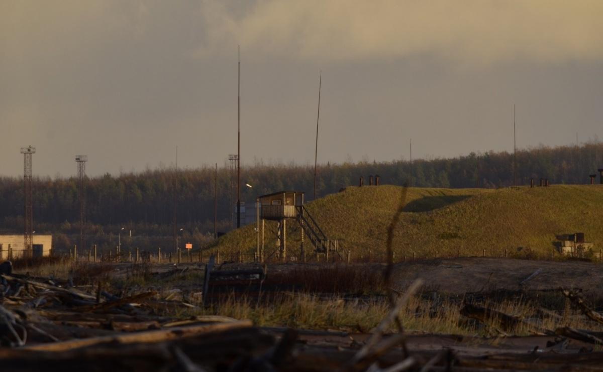 Вот так выглядит ракетный полигон Нёнокса издали. Территория закрыта для гражданских