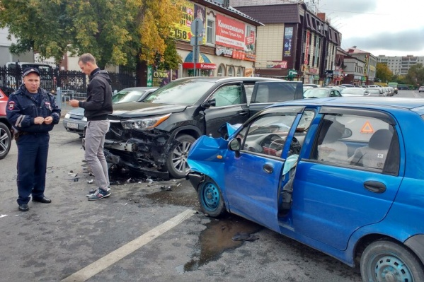 Авария произошла сегодня утром