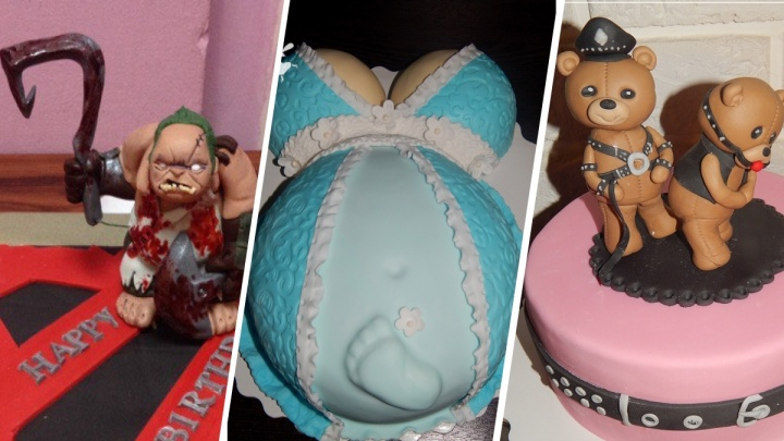 Беременный живот, груди и БДСМ-мишки: зачем ярославцы заказывают торты, которые страшно резать