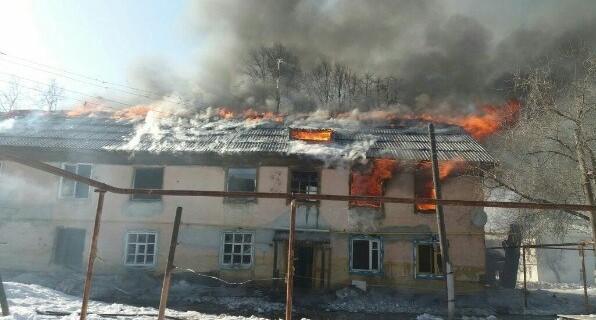 В Верхней Пышме сгорел двухэтажный дом