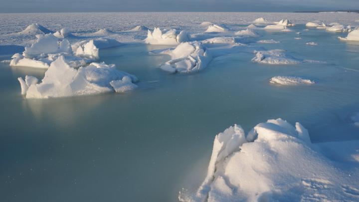 Словно другая планета. Смотрите, как космически выглядит зимой Белое море