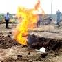 За Волгоградом полицейские сожгли 300 килограммов марихуаны из Голландии