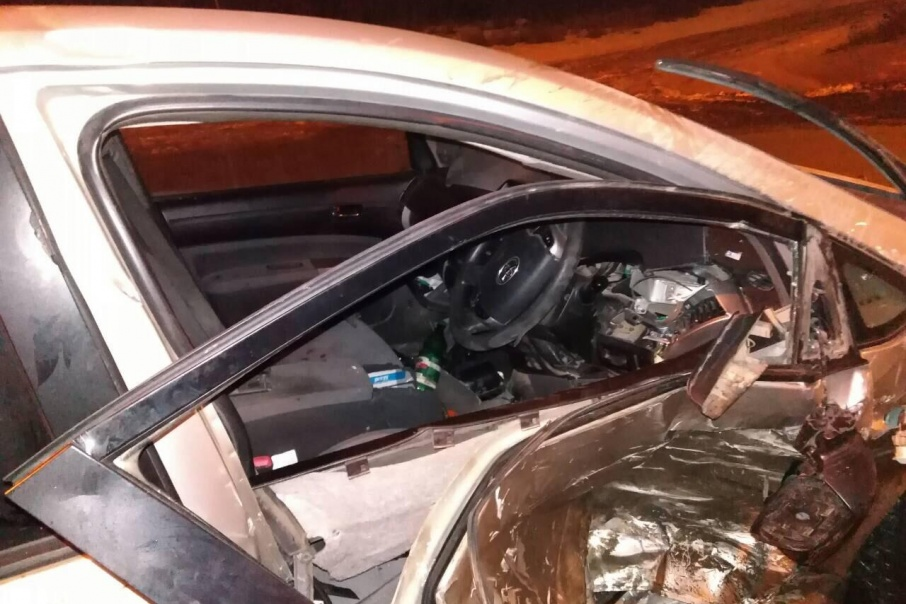 Виновник аварии пытался скрыться, но его отыскали сотрудники ГИБДД