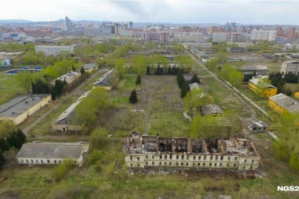 Территория бывшей военной части на Малиновского