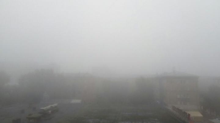 Новосибирцы завалили соцсети фотографиями «молочного» тумана