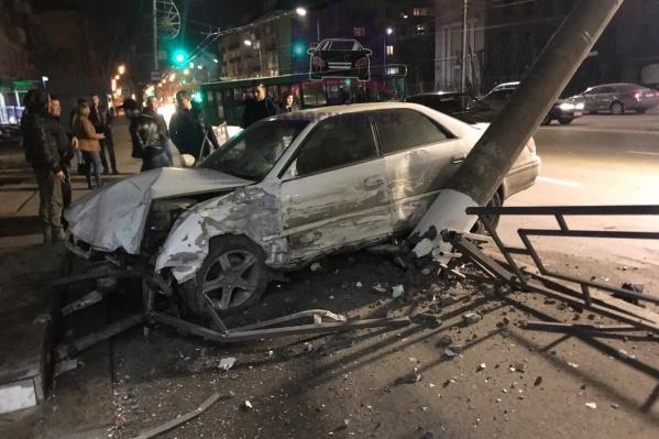 Авария произошла сегодня ночью на Свободном