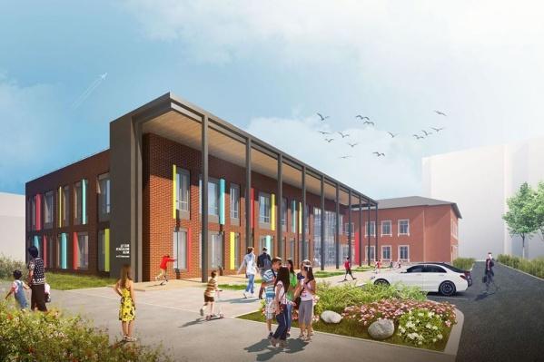 По проекту так должно выглядеть новое здание школы