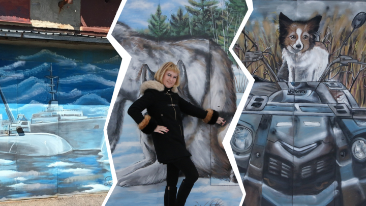 Человек-паук и подводные лодки: что еще после уроков рисует на гаражах учительница из Северодвинска