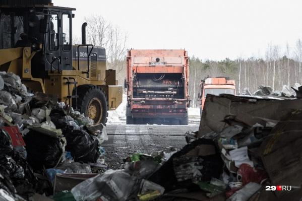 С января машины Архангельского мусороперерабатывающего комбината с «хвостами» отходов не пускают на городскую свалку