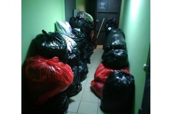Волонтёры собрали более 200 мешков на помощь погорельцам