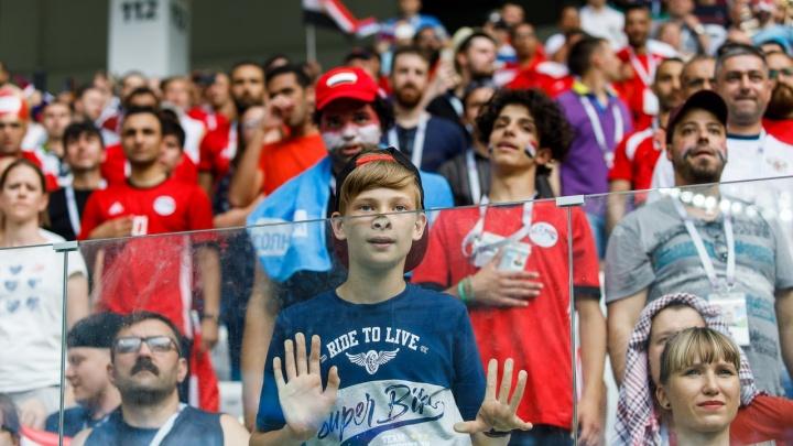 Эмоции матча: интернационал болельщиков на «Волгоград Арене»