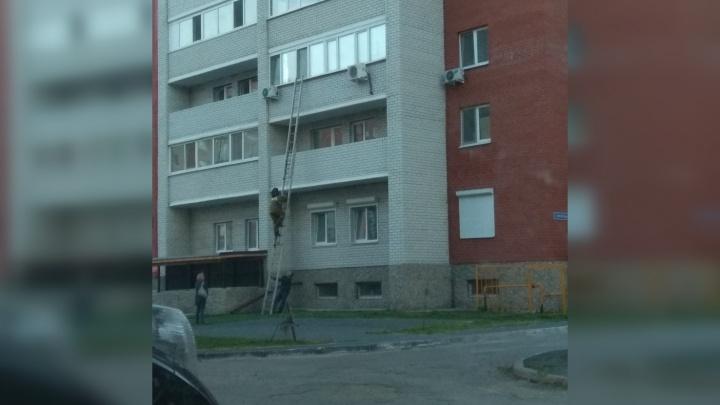 В Тюмени спасателям пришлось забираться в квартиру через окно из-за крепко спящего ребенка