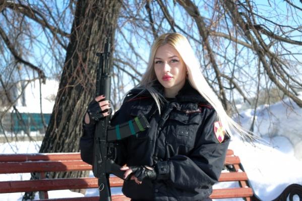 Девушка служит в полиции больше десяти лет