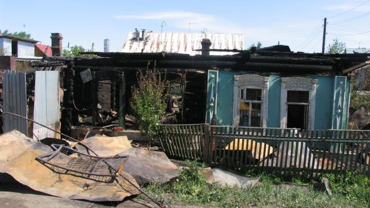 В Звериноголовском районе семья осталась без жилья из-за пожара