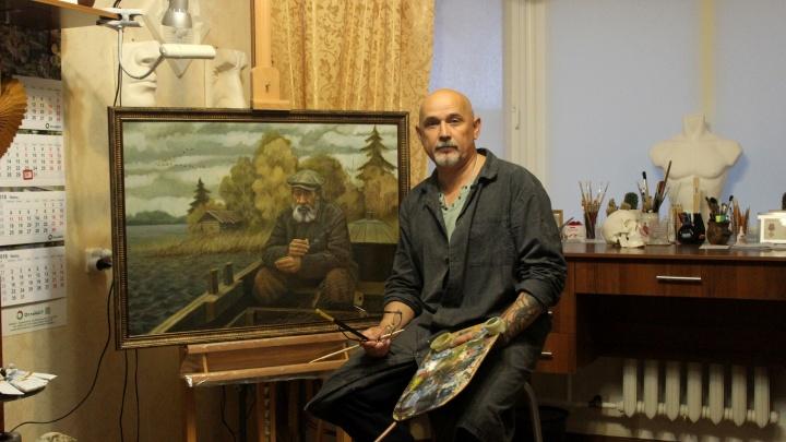 Не папа студента, а сам учится: как военный моряк из Архангельска в 45 лет поступил на художника