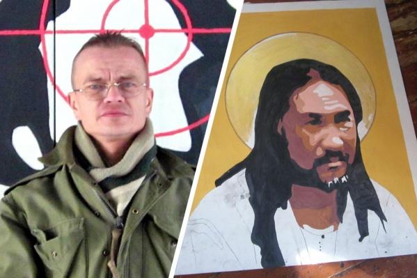 Константин Ерёменко (на фото слева) изобразил шамана Александра Габышева, которого задержали по пути в Москву и обвинили в экстремизме